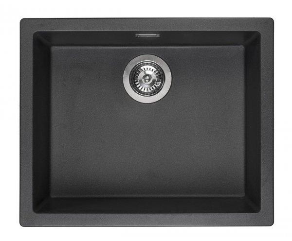Reginox Amsterdam 50 Black Silvery Spüle 50x40 schwarz