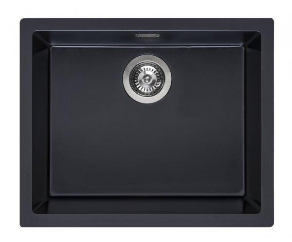 Reginox Amsterdam 50 pure-black Granit Spülbecken 500x400 schwarz
