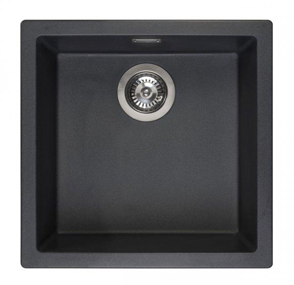 Reginox Amsterdam 40 Black Silvery Spüle 400x400 schwarz