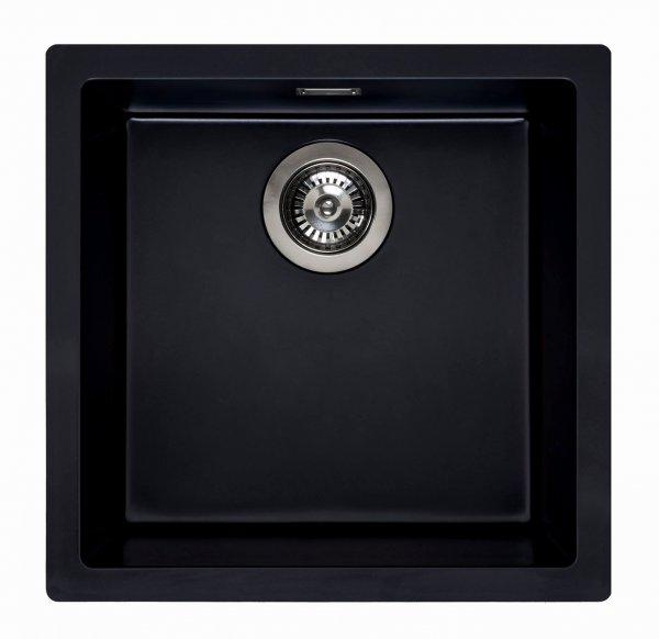 Reginox Amsterdam 40 pure-black Granit Spülbecken 400x400 schwarz