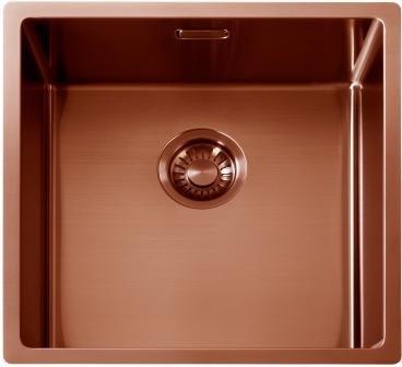SHIGO SQR10 4040 KUPFER Edelstahl Spülbecken Küchenspüle Spüle PVD Beschichtung