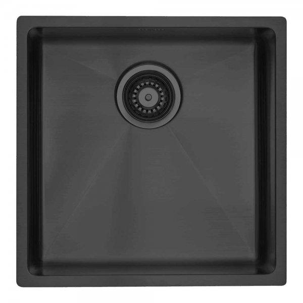 Kubus 400 soft , black-shadow Edelstahl PVD beschichtet