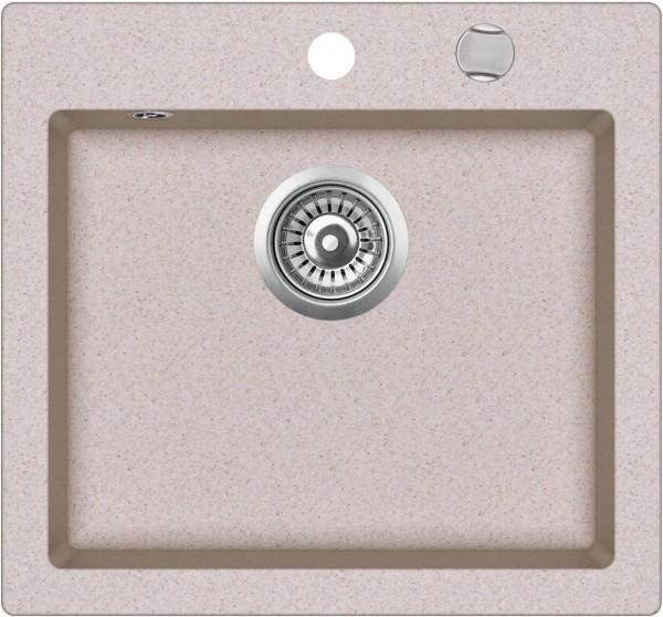 SHIGO-Granitspuele-mit Excenterbedienung-beige-ora-GQC100AW-112