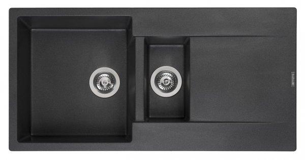 Reginox Amsterdam 15 Black Silvery Granit Spülbecken schwarz