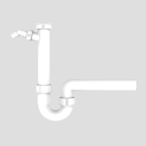 SANIT Siphon Röhrengeruchsverschluss mit Geräteanschluss