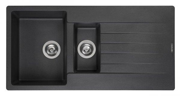 Reginox Harlem 15 Black Silvery Granit Spülbecken schwarz