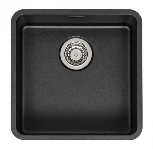 Reginox OHIO 40x40 (L) schwarze Edelstahl Einbauspüle
