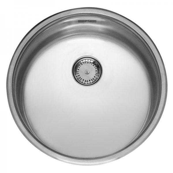Edelstahl Küchenspüle rund poliert L18 390 Comfort