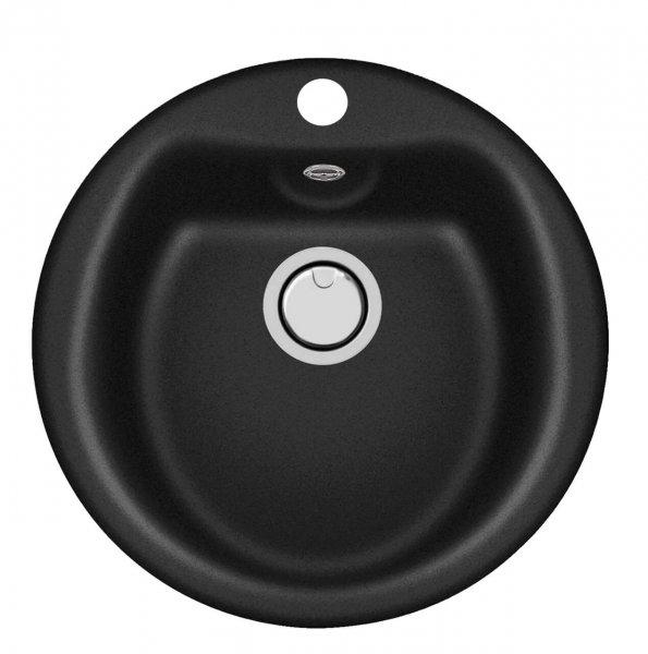 Plados Granitspüle Atlantic PL5101 schwarz-matt