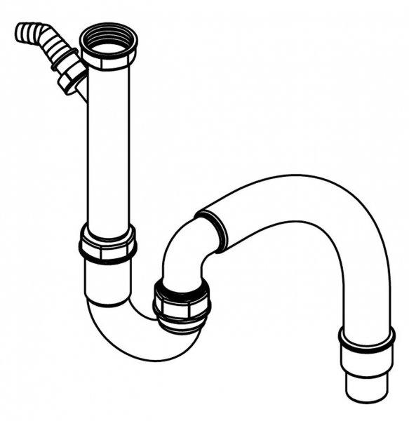 Pyramis Siphon mit flexiblem Abgang und GS Anschluss