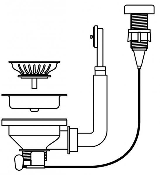 Pyramis Drehexcenter-Siebkorbventil ∅92 mit Überlauf im Becken