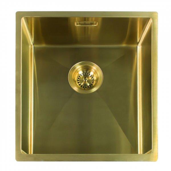Reginox MIAMI 40X40 GOLD (L) Integrated Edelstahl Spülbecken