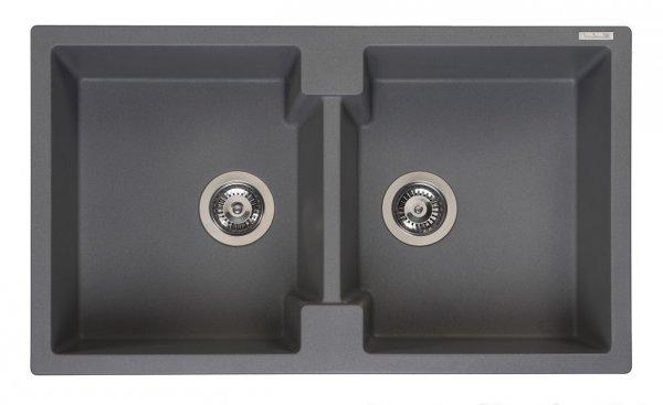 Reginox Amsterdam 20 Grey Silvery Granit Spülbecken grau