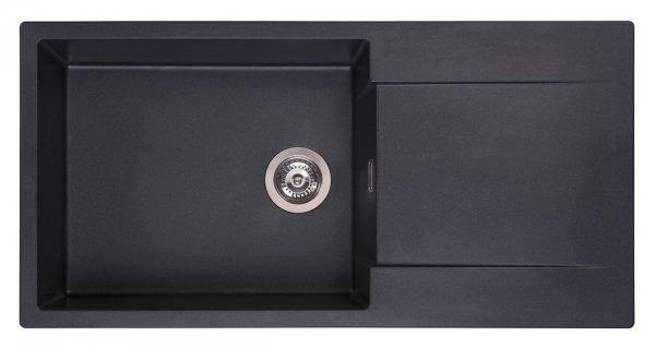 Reginox Amsterdam 540 Black Silvery Granit Spülbecken schwarz
