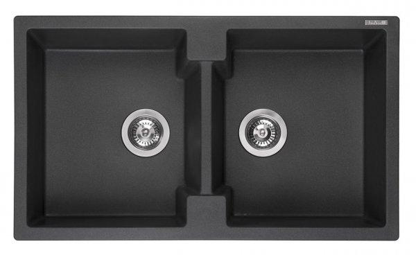 Reginox Amsterdam 20 Black Silvery Granit Spülbecken schwarz