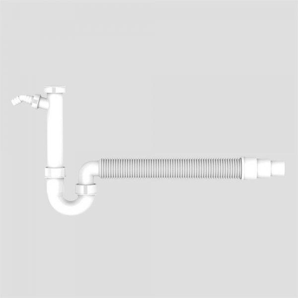Siphon mit flexiblem Abgang und GS Anschluss
