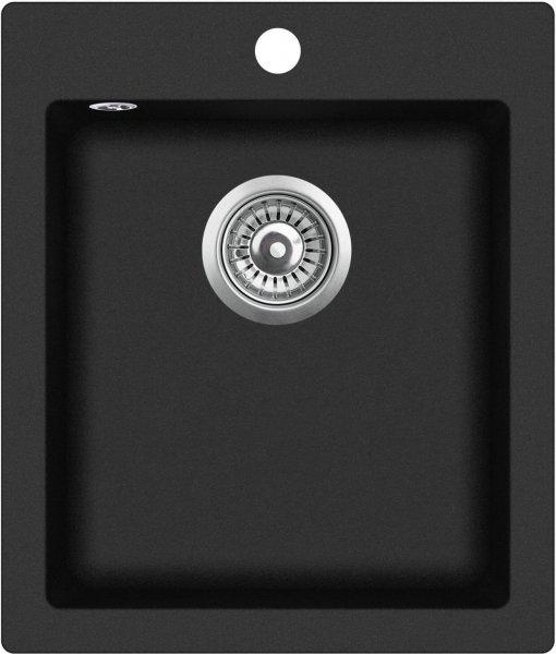Spülbecken rund schwarz  Granit Composite Spülbecken GQS100W-601