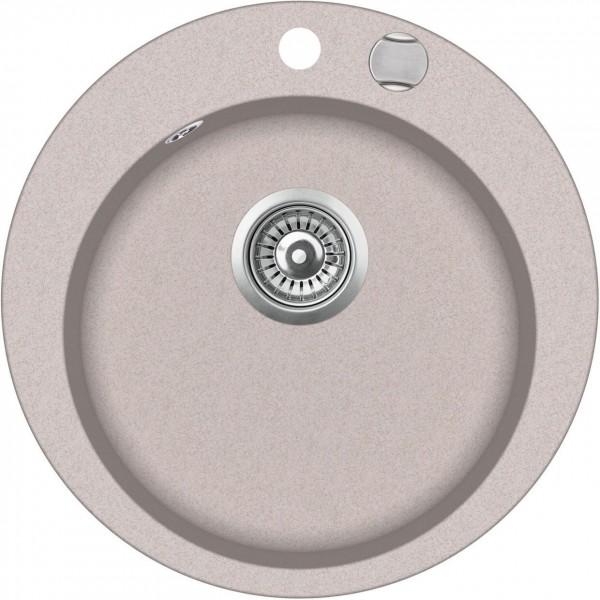 SHIGO-runde-Granitspuele-beige-ora-mit-Excenterbedienung-GCR100AW-112