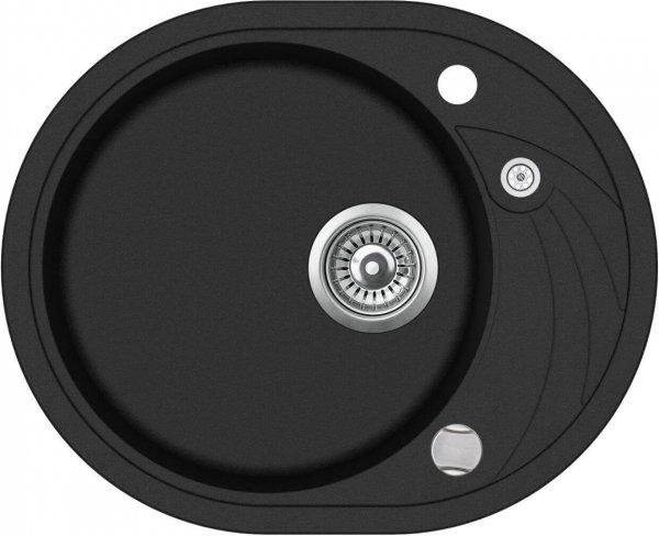 SHIGO-ovale-Granitspuele-schwarz-blackmetallic-GCR102AW-601