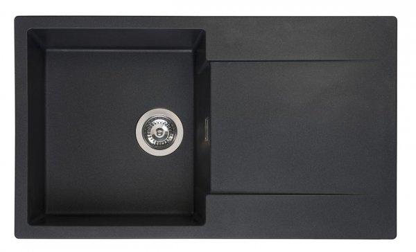 Reginox Amsterdam 10 Black Silvery Granit Spülbecken schwarz