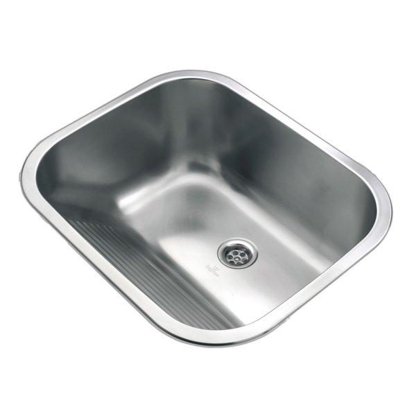 Edelstahl Ausgußbecken, Handwaschbecken, Wandmontage