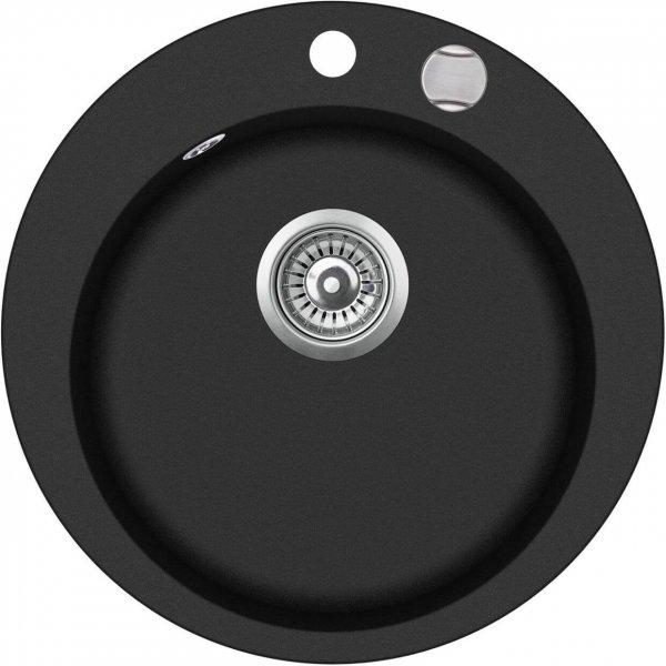 SHIGO-runde-Granitspuele-schwarz-mit-Excenterbedienung-GCR100AW-601